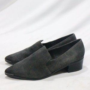 STEVE MADDEN Glenndda Gray Suede Point Toe Shoes
